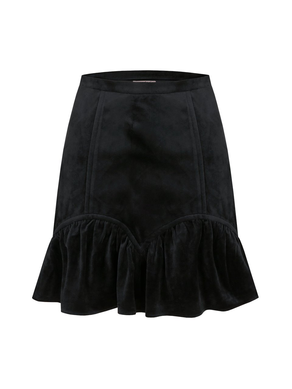 velvet shirring skirt