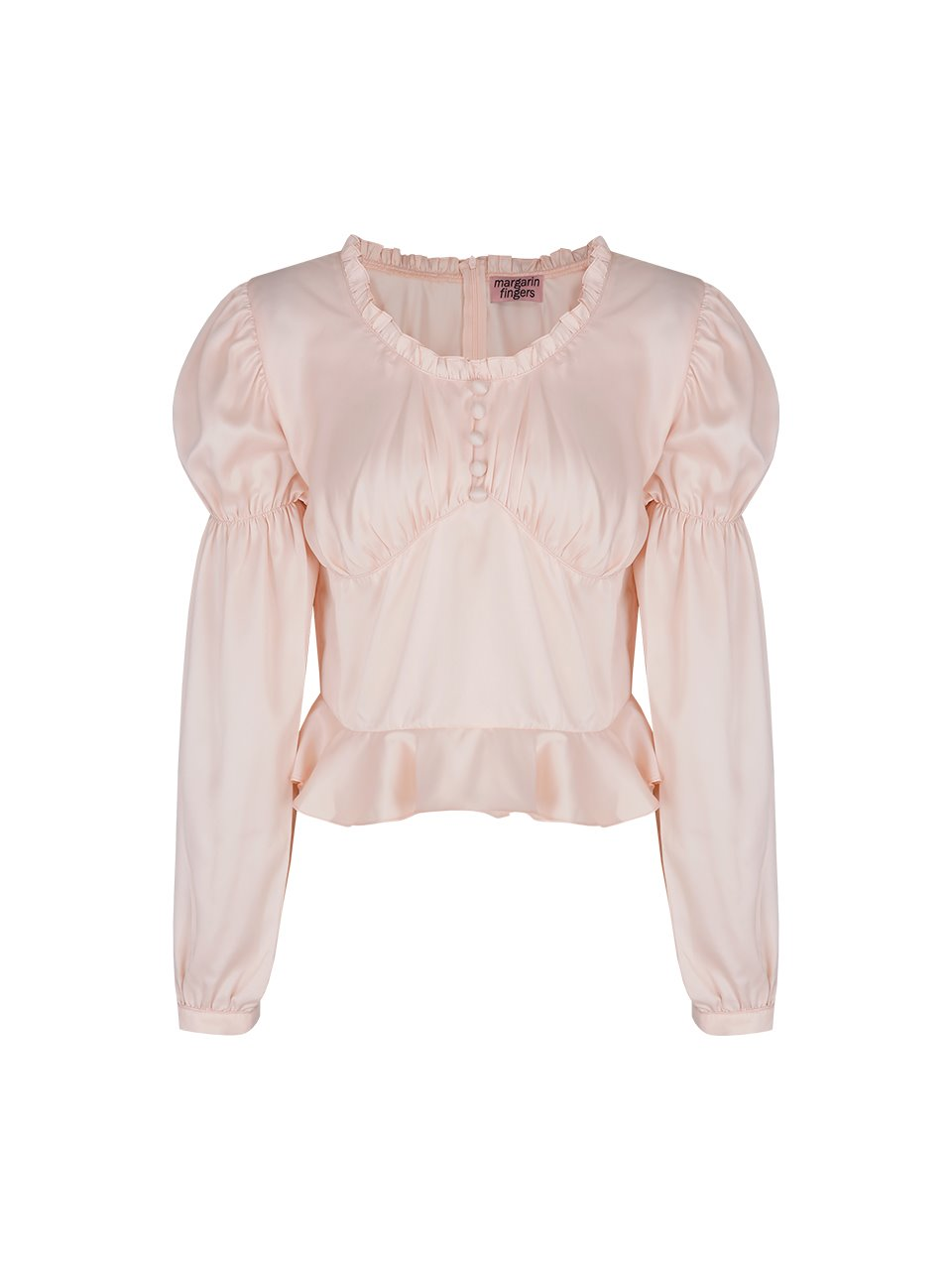satin romantic blouse