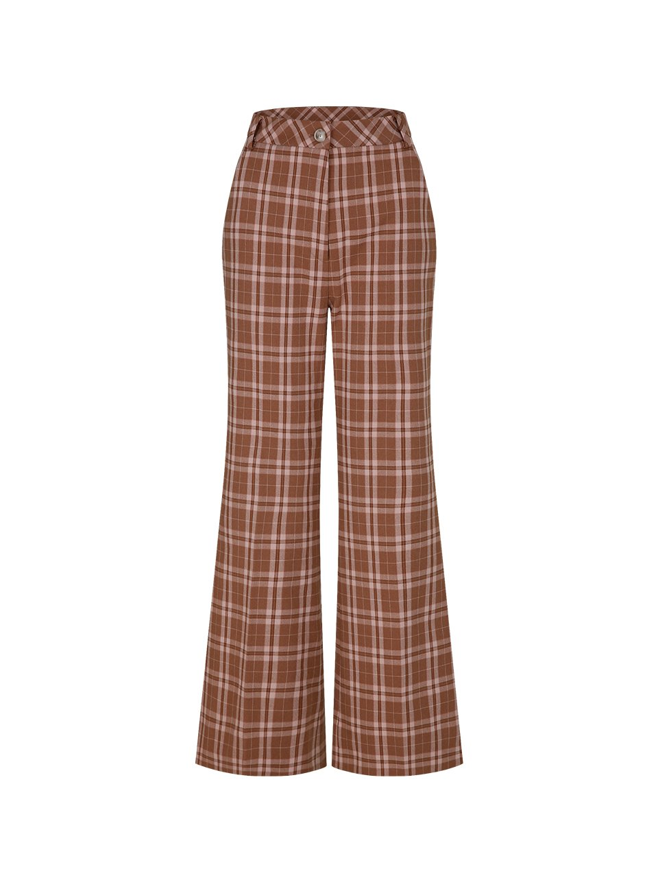 cocoa check pants