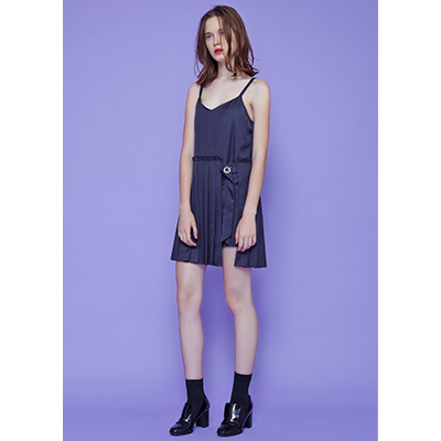 [30% SALE ]pleats slip one piece