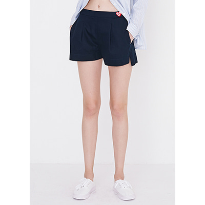 [30%sale]relax slit shorts(dark navy)