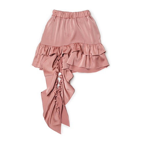 ruffle trimming skirt (pink)