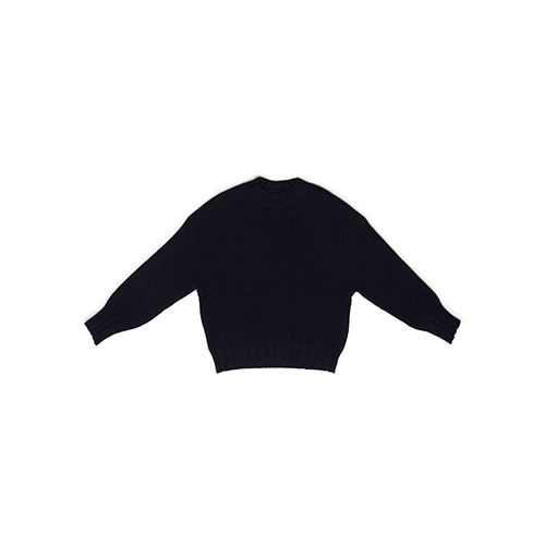 lamb's wool knit (navy)