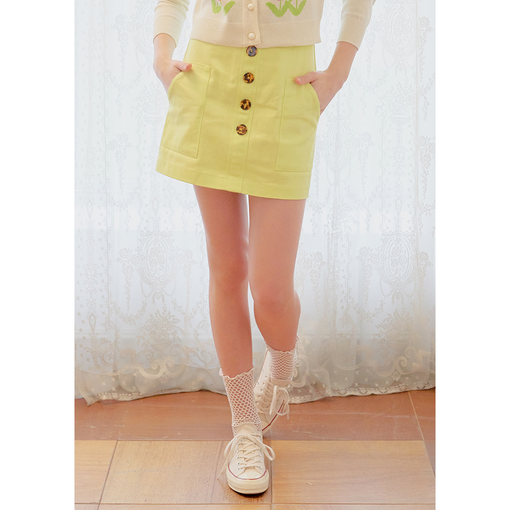 mix button skirt