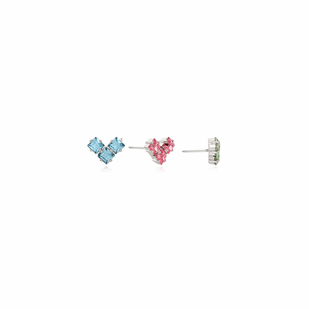 [MARGARIN FINGERS X HIGH CHEEKS] Heart Trio Earring (3set)
