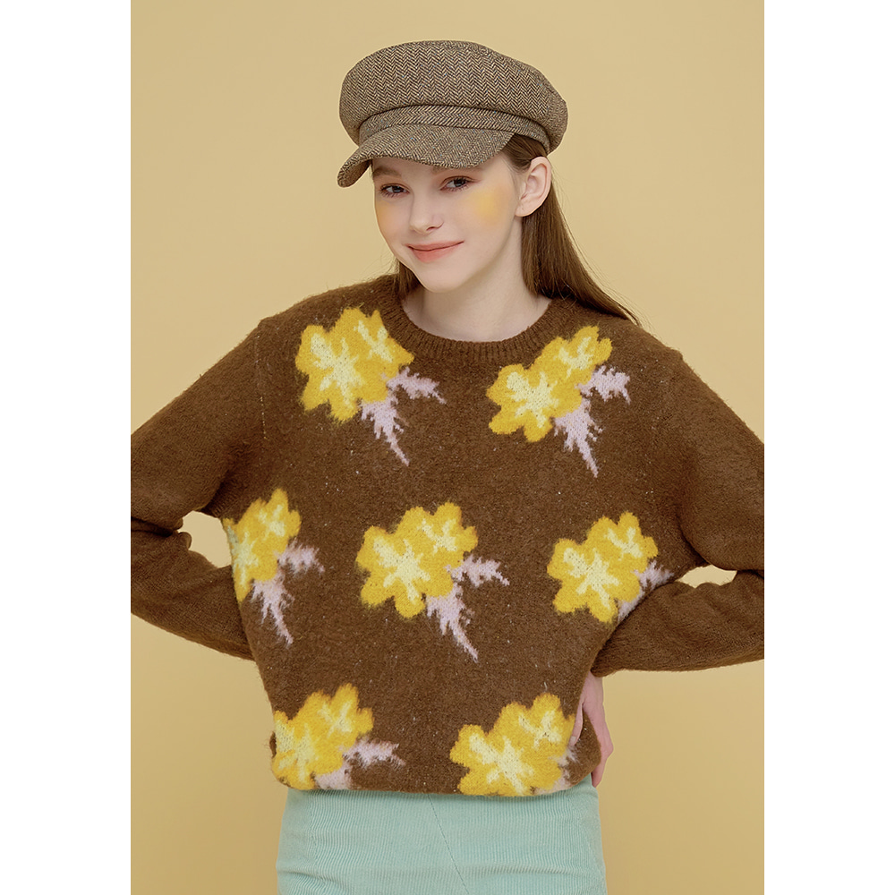 flower jacquard knit